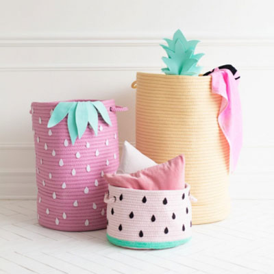 DIY Fruit storage baskets  - summer home decor