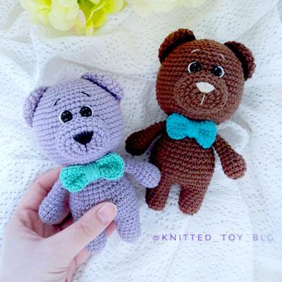 Adorable amigurumi bear with bow tie (free amigurumi pattern)