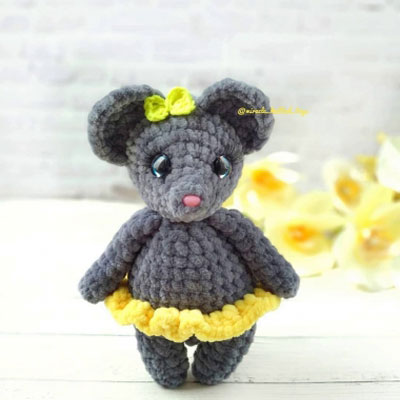 Little mouse amigurumi pattern   Amiguroom Toys   400x400