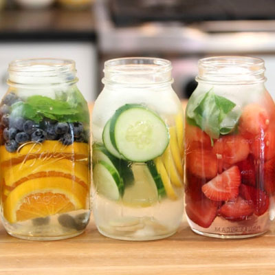 DIY Fruit infused water - cool summer drink