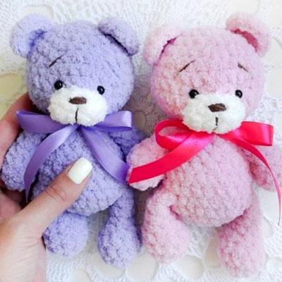 Little soft amigurumi teddy bear (free amigurumi pattern)