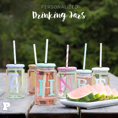 DIY Mason jar cup - fun summer mason jar craft