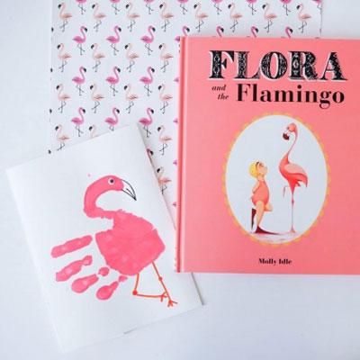Adorable handprint flamingo - summer craft for kids