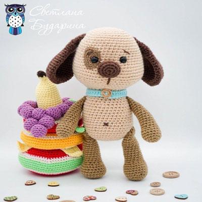Lovely crochet dog (free amigurumi pattern)