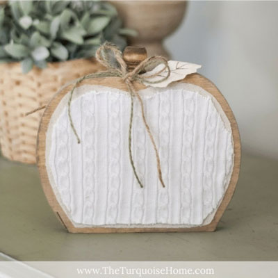 DIY Fabric covered  vintage style wooden pumpkin