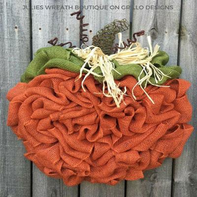 DIY Pumpkin wreath - fall wreath (wreath making tutorial)
