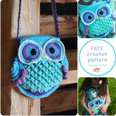 Adorable crochet owl bag (free crochet pattern)
