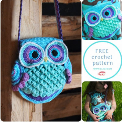 Adorable crochet owl bag (free crochet pattern)
