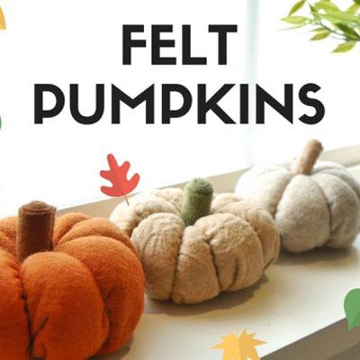 DIY Felt pumpkins - fall decor