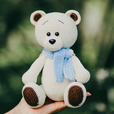 Lovely white amigurumi bear (free amigurumi pattern)