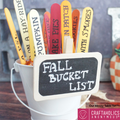 DIY Craft stick fall bucket list - fun fall family activities