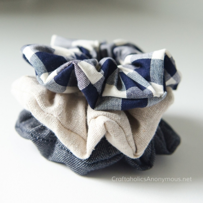 DIY Scrunchies ( how to sew scrunchies ) - sewing for beginners