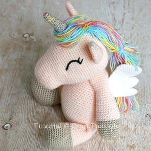 Adorable winged amigurumi unicorn (free amigurumi pattern)