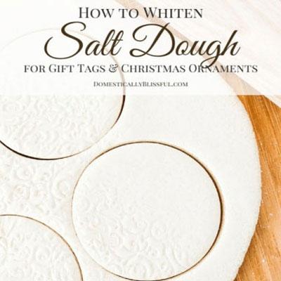 How to whiten salt dough