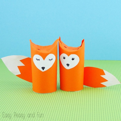 Toilet paper roll fox craft - fun fall craft for kids