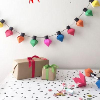 DIY Christmas bulb advent calendar