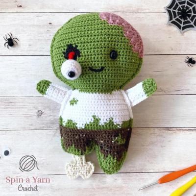 Crochet zombie ragdoll (free crochet pattern)