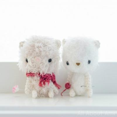 Fluffy amigurumi bears (free amigurumi pattern)