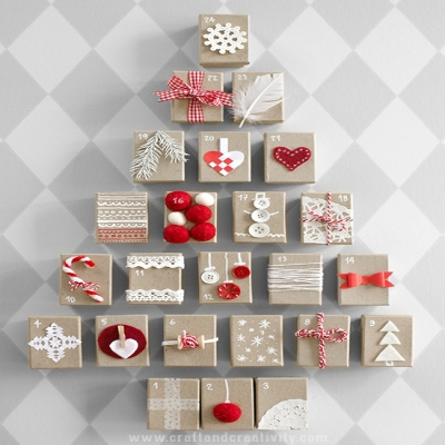 Simple DIY Gift box advent calendar (matchbox advent calendar)