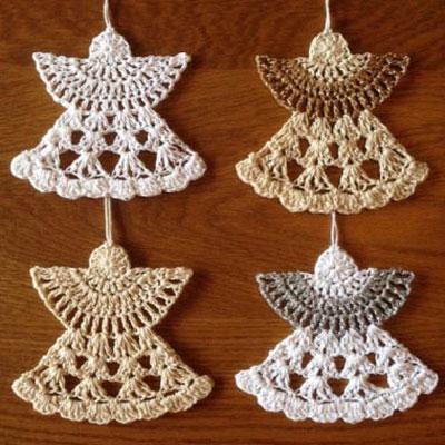 Crochet angel ornament - free crochet pattern