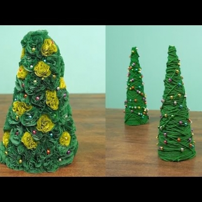 2 Different simple DIY Christmas tree (Christmas decoration)