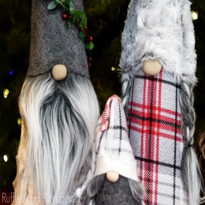 DIY tall Christmas gnomes (video tutorial)