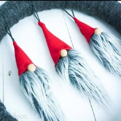 DIY Christmas gnome ornament - tomte ornament (video tutorial)