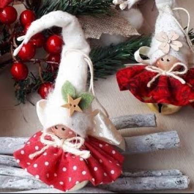 Adorable Christmas bell elf girl (Christmas tree ornament)