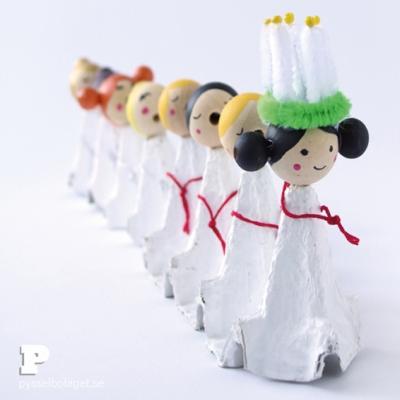 DIY Wooden bead Christmas carolers - fun Christmas craft for kids