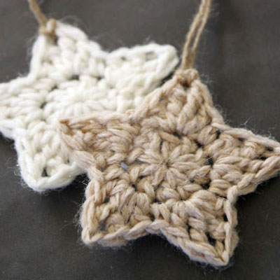 Crocheted stars - christmas tree ornaments