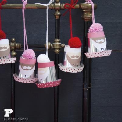 DIY Christmas gnome advent calendar (free printable)