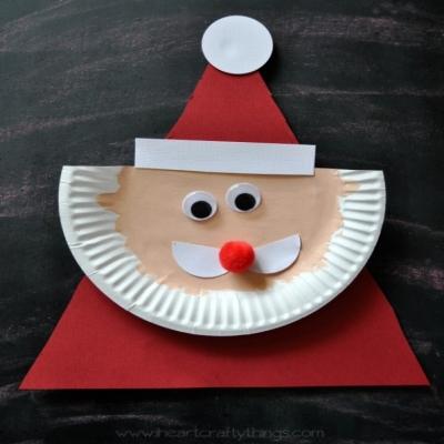Paper plate Santa Claus - fun Santa craft for kids