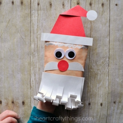 DIY Santa envelope puppet - Christmas craft for kids