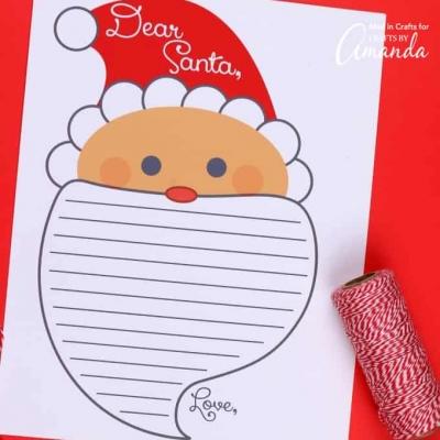 Letter to santa ( free printable )