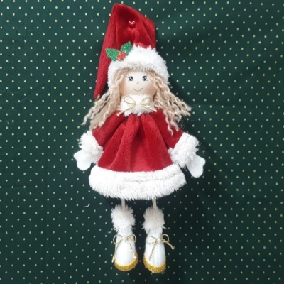 Santa girl doll - step-by-step doll sewing tutorial