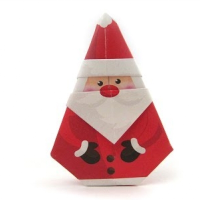 Simple and adorable origami Santa Claus - paper folding for kids