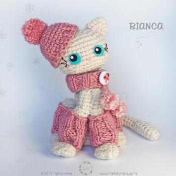 Bianca the amigurumi cat (free amigurumi pattern)