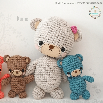 Kuma's amigurumi bear family (free amigurumi pattern)