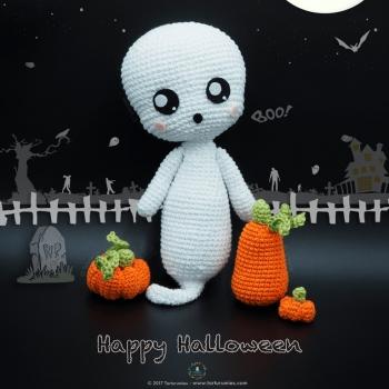 Boo! the amigurumi ghost (free amigurumi pattern)