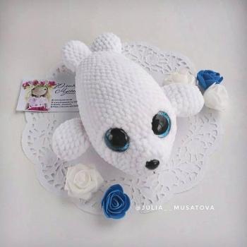 Amigurumi baby seal (free amigurumi pattern)
