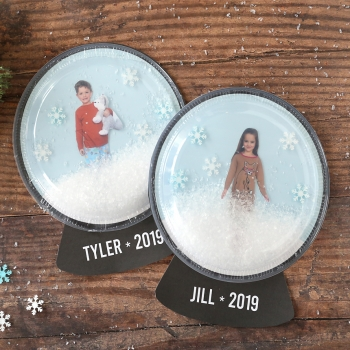 Easy DIY photo snow globe craft for kids - creative Christmas card
