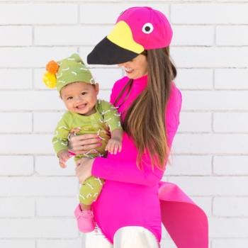 DIY Lawn flamingo costume & baby cactus costume ( Halloween costumes )