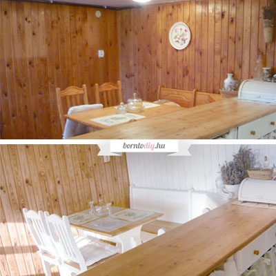 DIY Wood wall paneling makeover in country style