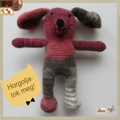 Little red amigurumi dog ( free amigurumi pattern)