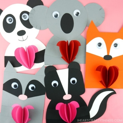 Easy & adorable DIY animal Valentines ( Valentine\'s day cards )