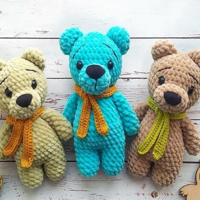 Soft amigurumi bear ( free amigurumi pattern )