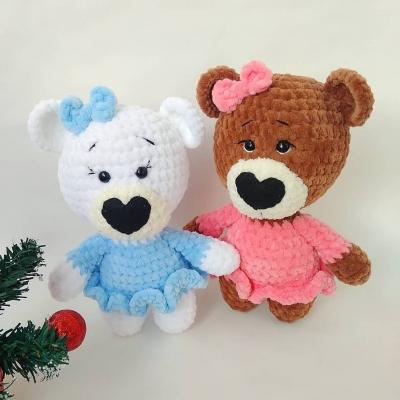 Soft amigurumi bear in dress ( free amigurumi pattern )