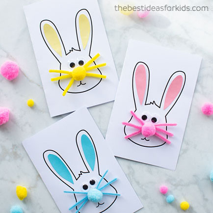 DIY Easter bunny card - simple & fun easter craft for kids