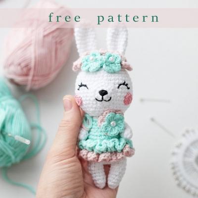 Amigurumi spring bunny girl (free amigurumi pattern)