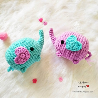 Little amigurumi elephant (free amigurumi pattern)
